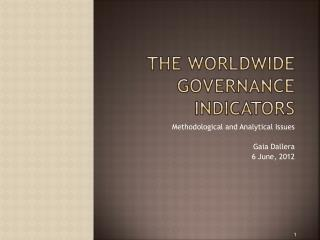 The  worldwide governance indicators