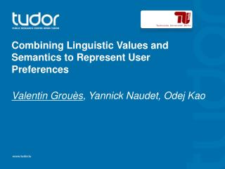 Combining Linguistic  Values and  Semantics  to  Represent  User  Preferences