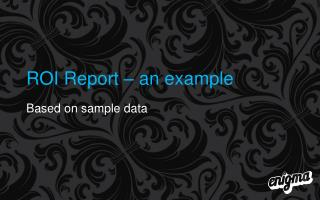 ROI Report – an example