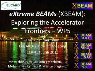 eXtreme  BEAMs  (XBEAM):  Exploring the Accelerator Frontiers – WP5
