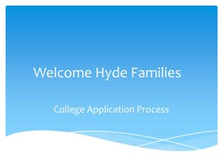 Welcome Hyde Families