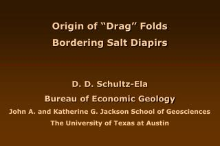 "Origin of ""Drag"" Folds Bordering Salt Diapirs"