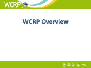 WCRP Overview