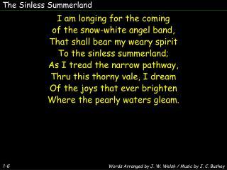 The Sinless Summerland