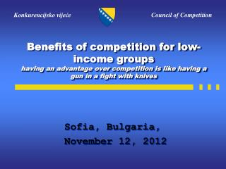 Sofia, Bulgaria,  November 12, 2012