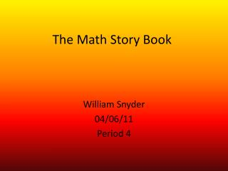 The Math Story Book