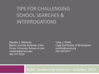 Tips for Challenging School Searches & Interrogations