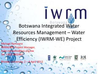 Botswana Integrated Water Resources Management – Water Efficiency (IWRM-WE) Project