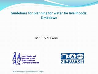 Guidelines for planning for water for livelihoods: Zimbabwe