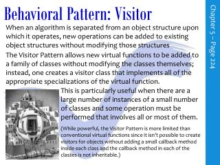Behavioral Pattern: Visitor