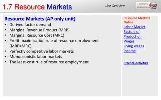 1.7 Resource  Markets