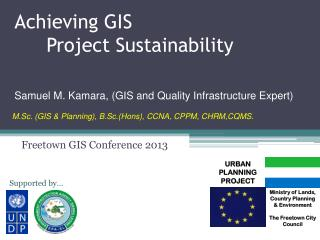 Achieving GIS  Project Sustainability