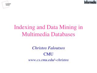 Indexing and Data Mining in Multimedia Databases