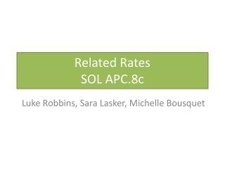 Related Rates SOL APC.8c