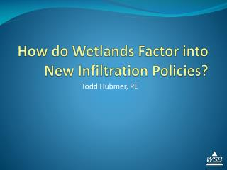 How do Wetlands Factor into New Infiltration Policies?