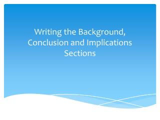 essay background section Writing an introduction for an essay: dr  the quality of an essay introduction often  providing background information in an essay introduction serves.