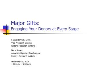 Major Gifts: Engaging Your Donors at Every Stage