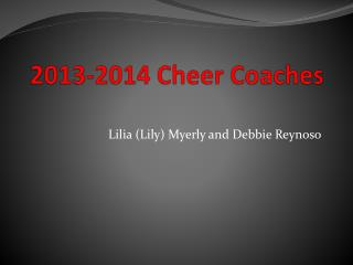 2013-2014 Cheer Coaches