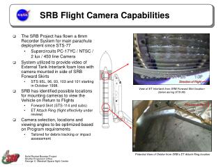 SRB Flight Camera Capabilities