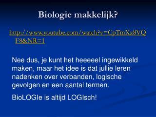 Biologie makkelijk?