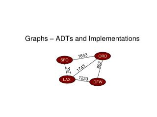 Graphs – ADTs and Implementations