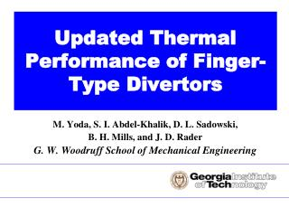 Updated Thermal Performance of Finger-Type Divertors