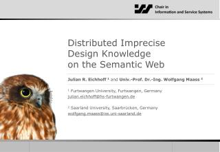 Distributed  Imprecise Design  Knowledge on  the Semantic  Web