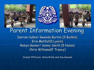 Parent Information Evening