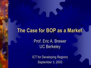 The Case for BOP as a Market