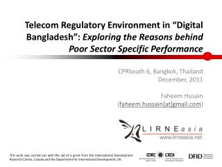 CPRSouth  6, Bangkok, Thailand December, 2011 Faheem Husain ( faheem.hussain [at]gmail )