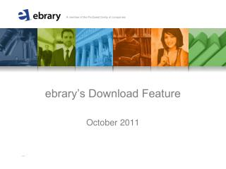 ebrary's Download Feature