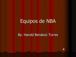 Equipos  de NBA