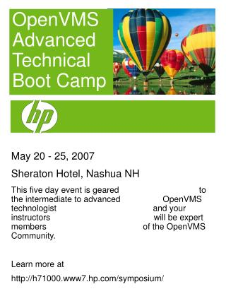 May 20 - 25, 2007 Sheraton Hotel, Nashua NH