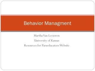 Behavior Managment