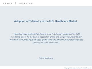 Adoption of Telemetry in the U.S. Healthcare Market