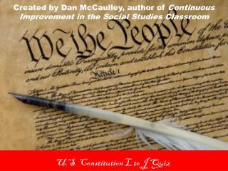 U.S. Constitution L to J Quiz