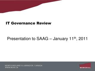 IT Governance Review