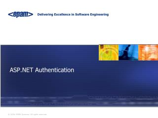 ASP.NET  Authentication