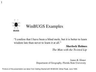 WinBUGS Examples