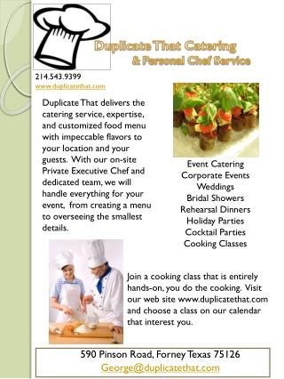 Duplicate  That Catering &  Personal Chef Service
