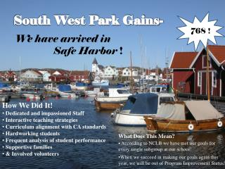 South West Park Gains-
