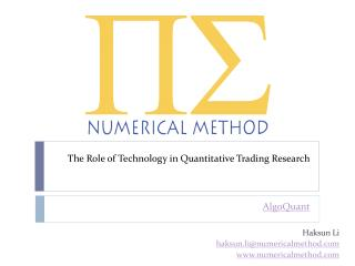 The Role of Technology in Quantitative Trading Research