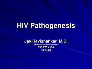 HIV Pathogenesis