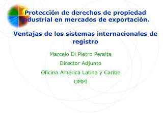 Marcelo Di Pietro Peralta Director Adjunto Oficina América Latina y Caribe OMPI