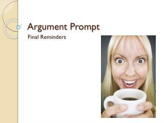 Argument Prompt