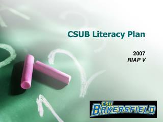 CSUB Literacy Plan