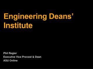 Engineering Deans' Institute