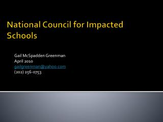 National Council for Impacted Schools