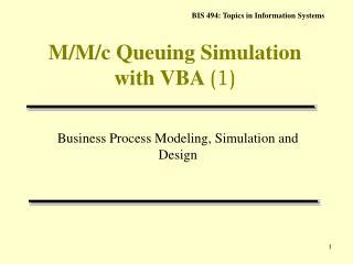 M/M/c Queuing Simulation with VBA  (1)