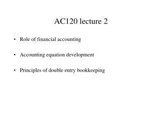 AC120 l ecture  2